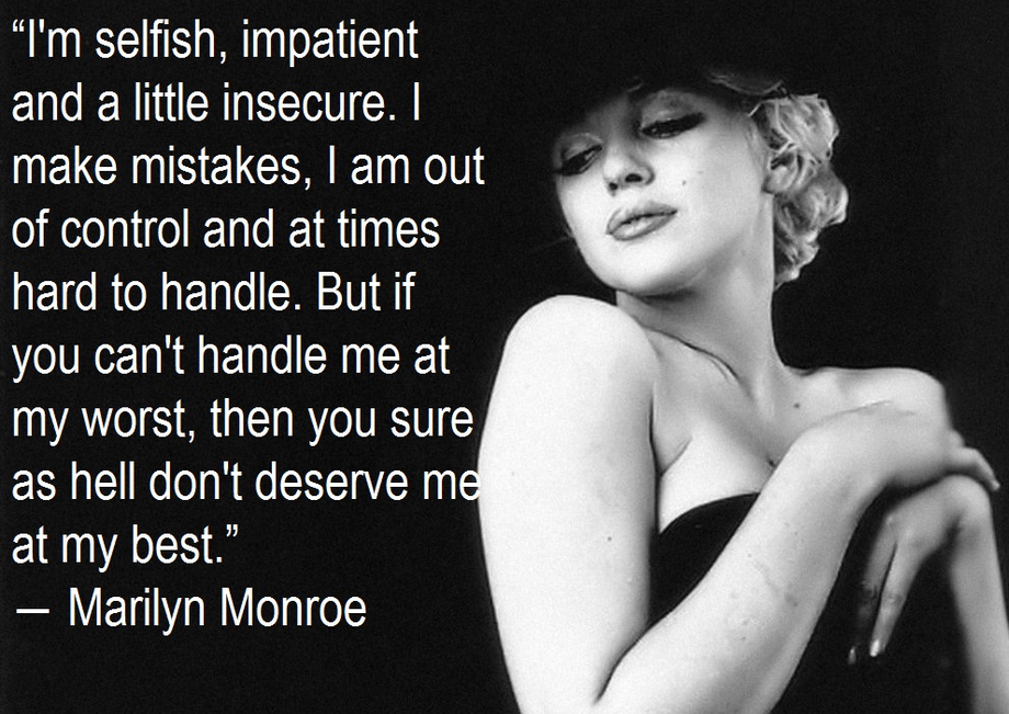 Marilyn Monroe Quote About Love