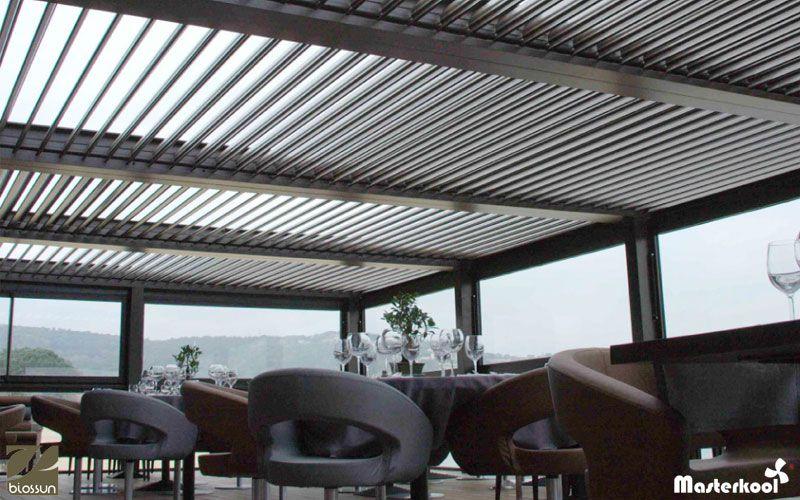 P rgolas de lamas de aluminio biossun hsr9 pinterest for Lamas aluminio techo