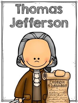 Thomas Jefferson Flip Book Plus Colored Poster Student Coloring