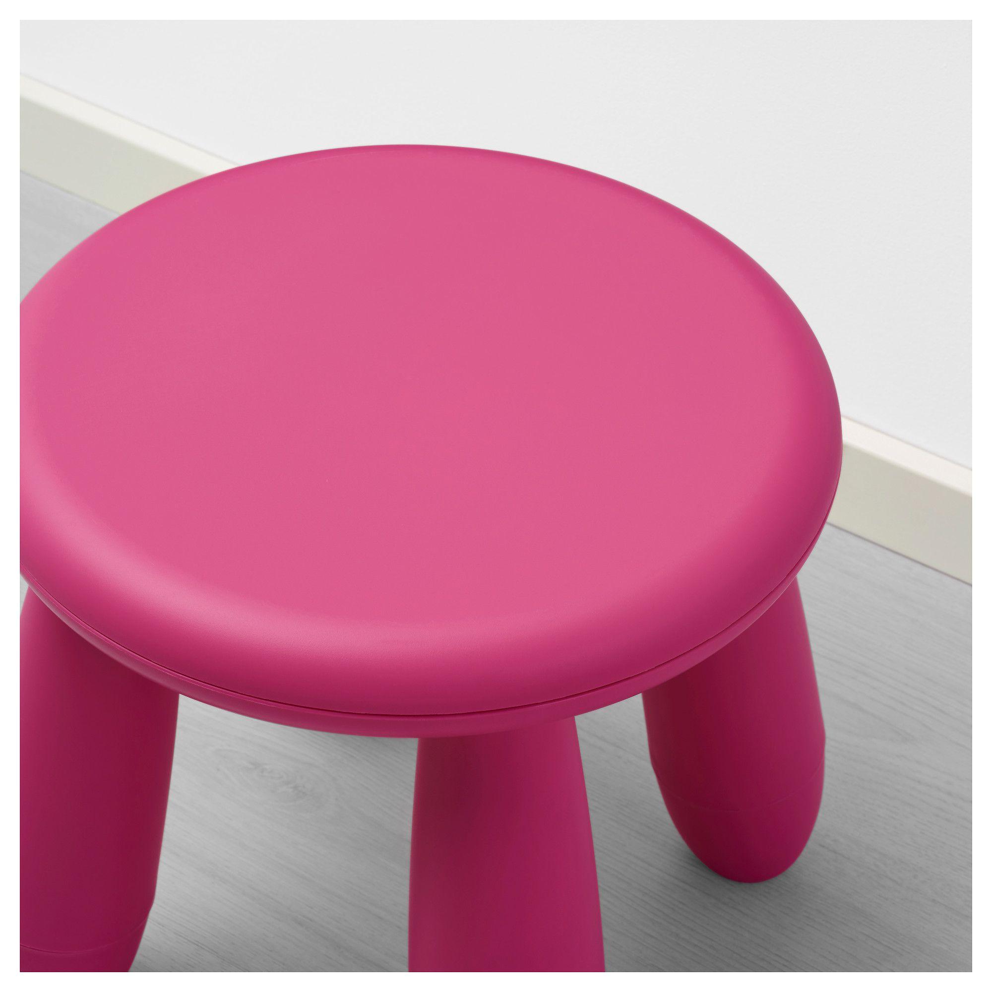 IKEA - MAMMUT Children\'s stool dark pink indoor/outdoor,   Products ...