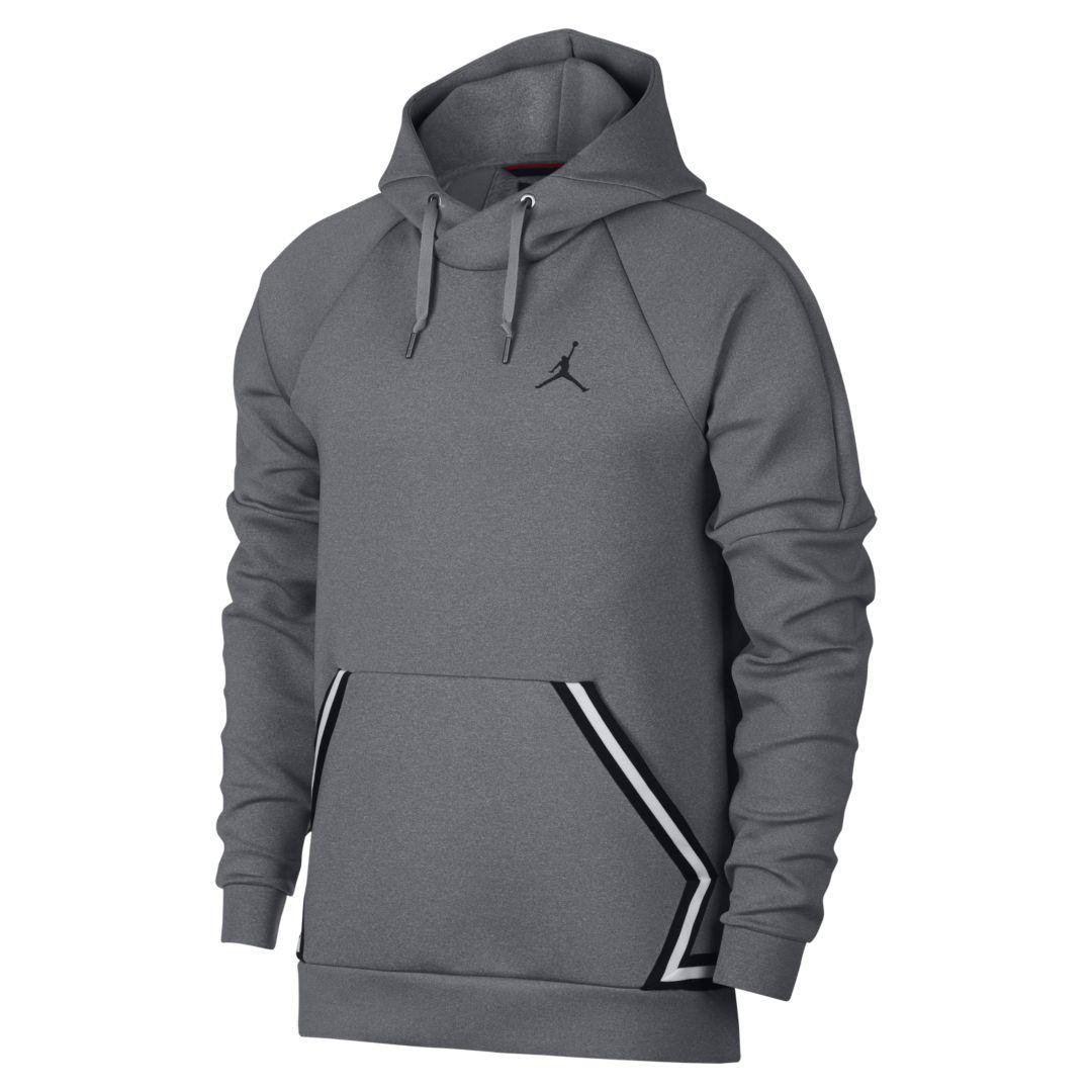 bb0aab2ed396 Jordan Sportswear Flight Tech Diamond Men s Pullover Hoodie Size 3XL  (Carbon Heather)