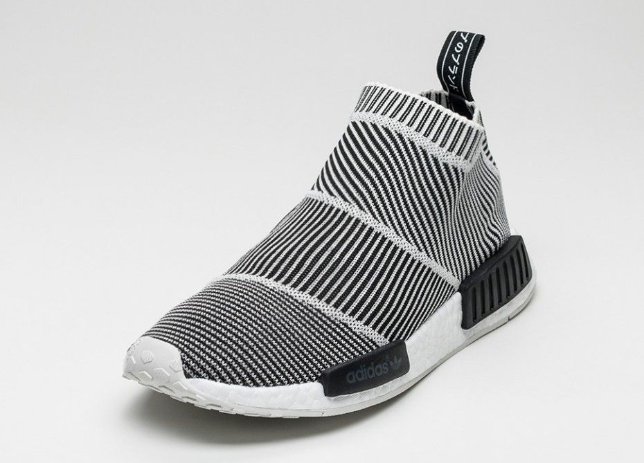 buscar tornillo Colonos  best NMD City Sock 1 Prime Knit S79152 black/ white/ blue (7