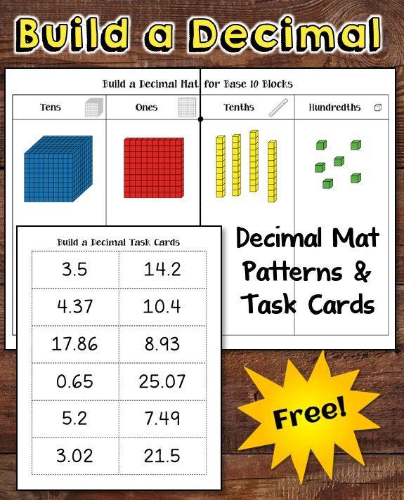 decimal place value freebie kids worksheets place value with decimals decimal places math. Black Bedroom Furniture Sets. Home Design Ideas