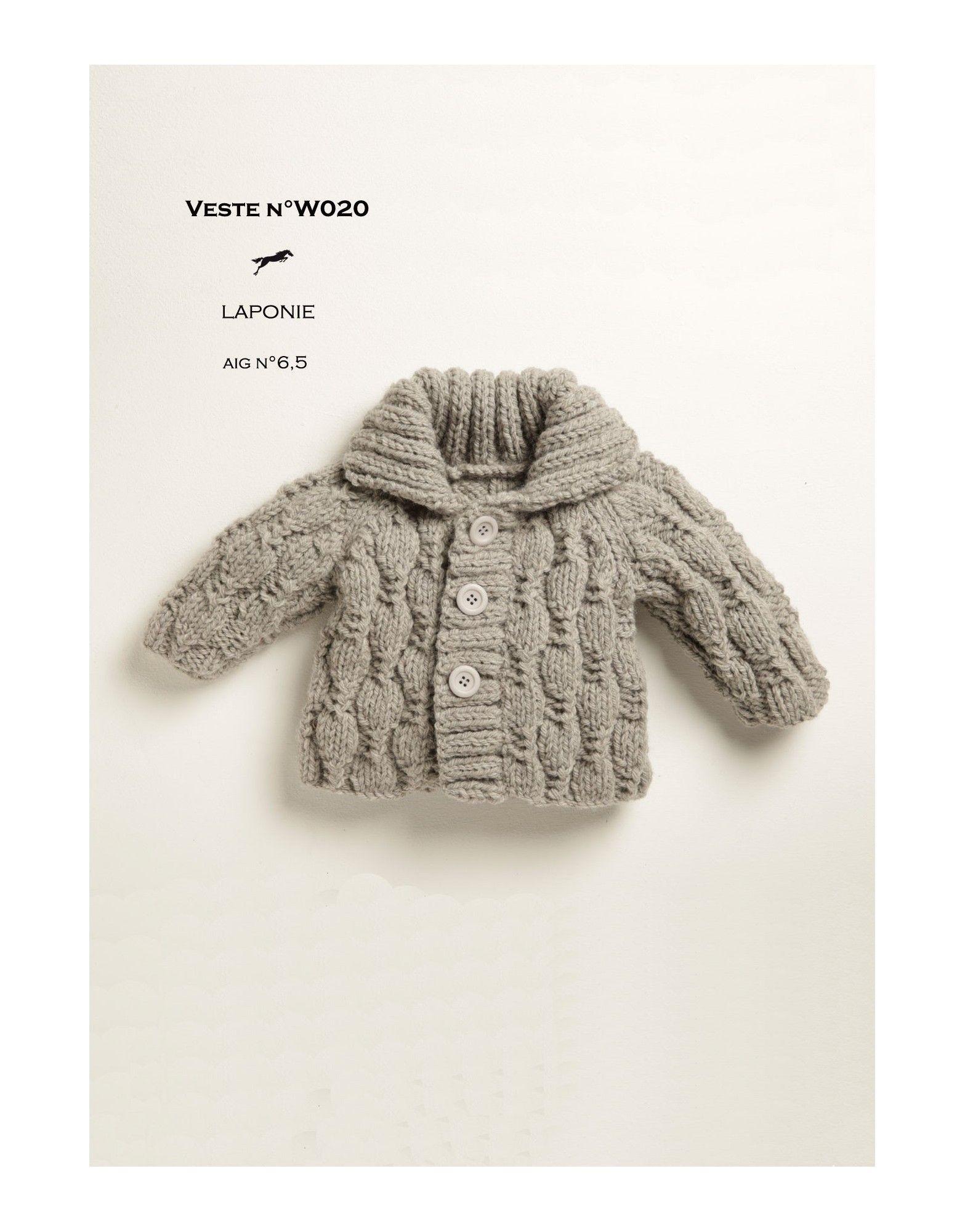Modèle Veste W020 Cheval Blanc - Patron tricot gratuit | bebek ...