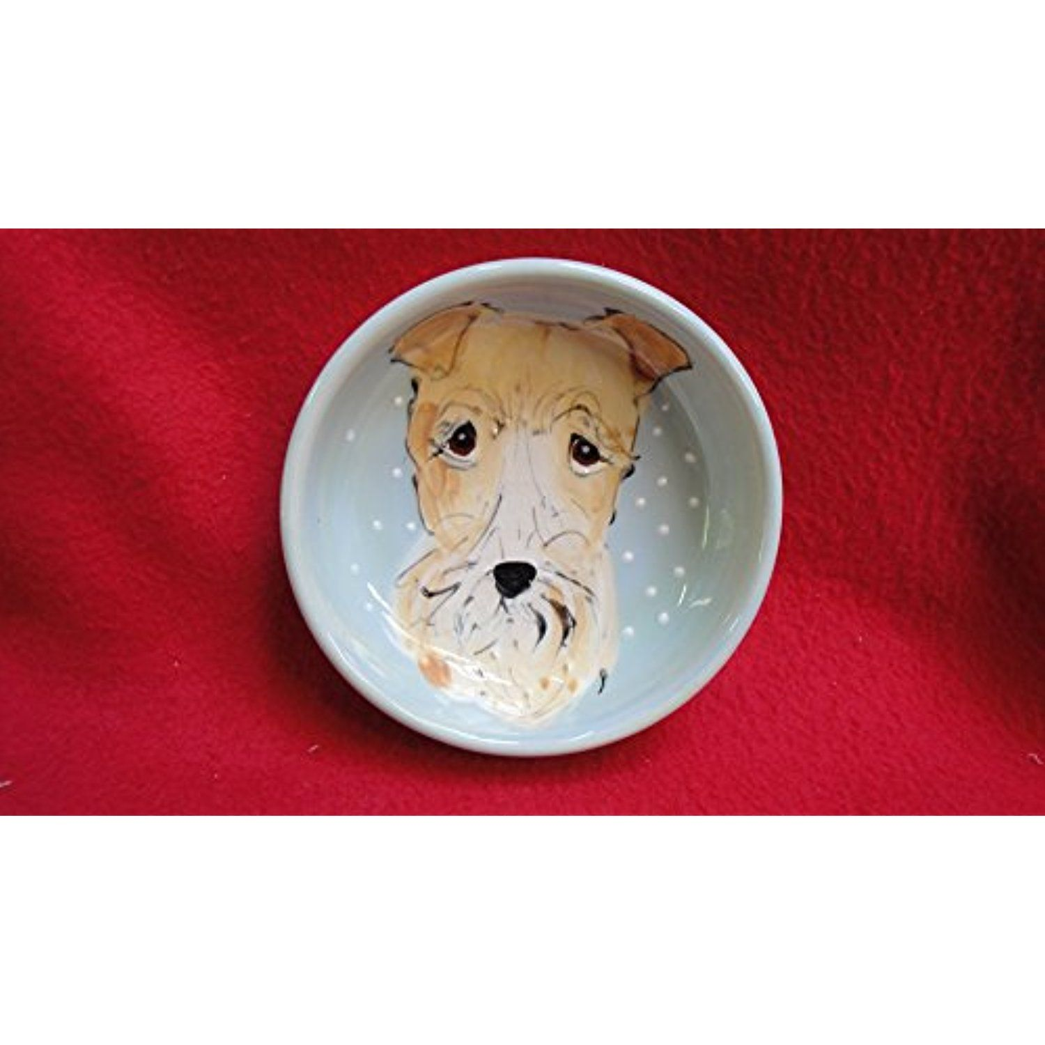"""Wire Fox Terrier, 8"""" Dog Bowl for Food or Water"""