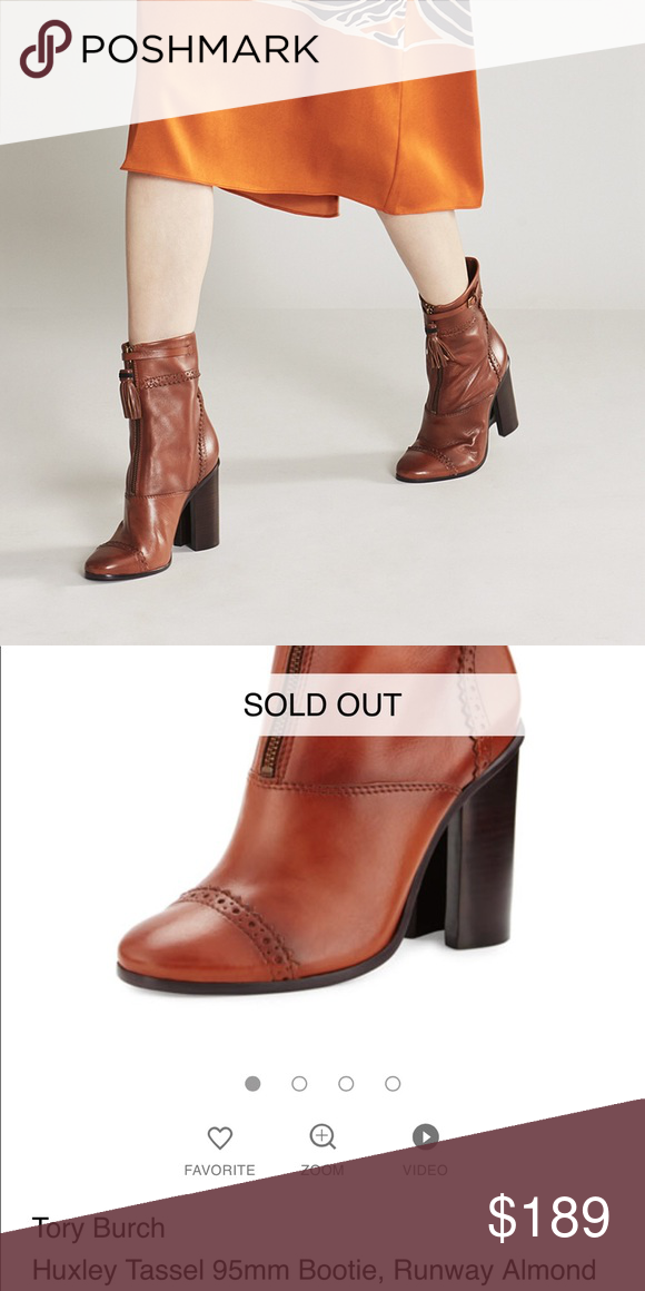 09db85f1fbcb Tory Burch Huxley tassel 95mm bootie runway New never used. Available in  almond color. No box nor dust bag. Tory Burch Shoes Ankle Boots   Booties
