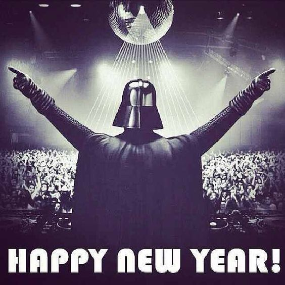 HAPPY NEWYEAR Everyone! #starwars #scifi #geek #newyear #newyearseve | Star  wars, Star wars movie, Star wars humor