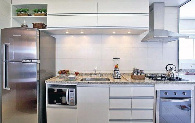 Organizacao Na Cozinha O Espaco Para O Microondas Fogao Inox