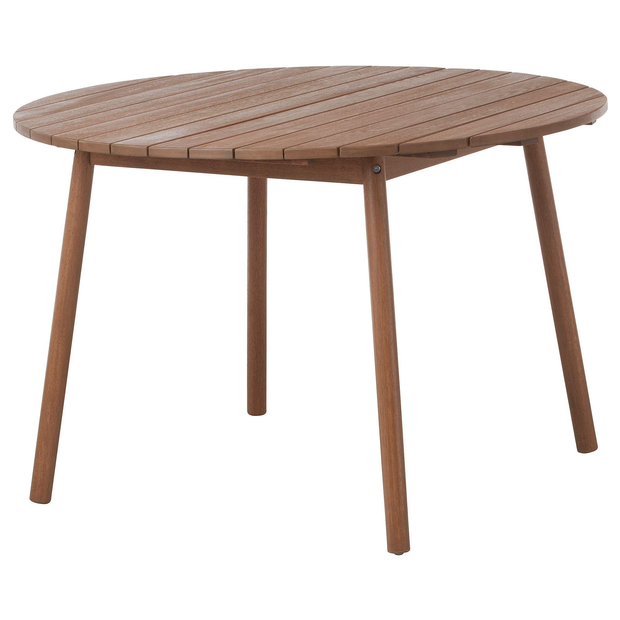 Overallt Tisch Fur Draussen Hellbraun Ikea Tisch
