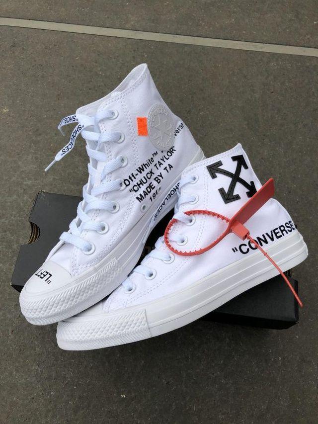 off white converse custom