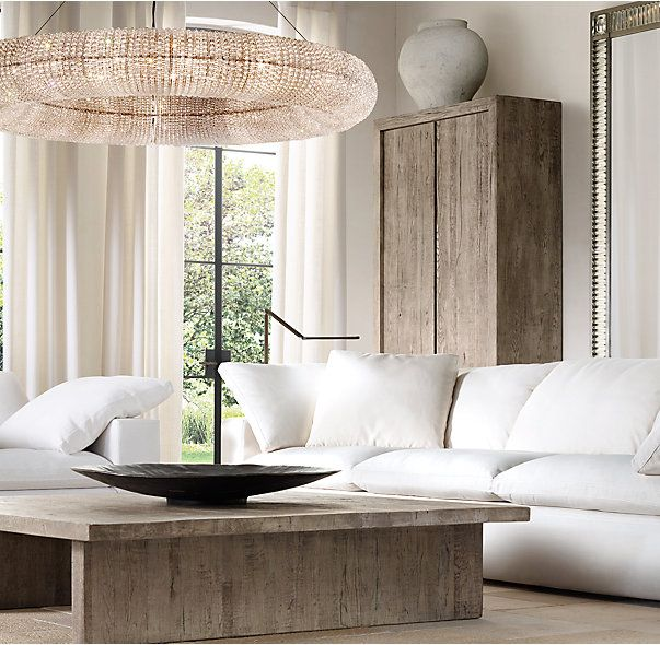 Crystal Halo Chandelier 59 Luxury Home Furniture White Furniture Living Room Home Furnishings