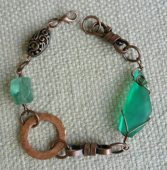 Check out this item in my Etsy shop https://www.etsy.com/listing/239919148/turquoise-sea-glass-bracelet