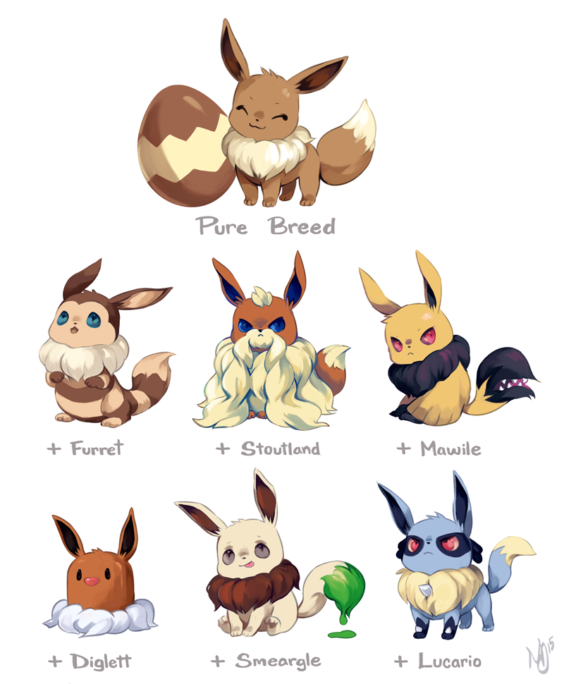 Eevee Variations by NataliaPaints -