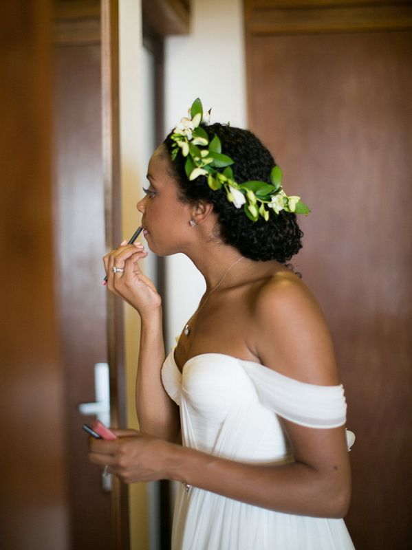 Goddess updo natural curly bridal wedding hairstyles for
