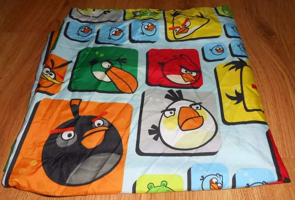 Angry Birds Shower Curtain Microfiber 72 X Kids Bath Red Yellow Blue Green AngryBirds