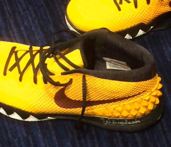 the latest 15b2c d1cc7 Kyrie Irving writes 'Whiplash' on his shoes because of the ...