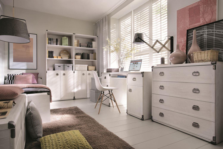 Komplet Bialych Mebli Do Pokoju Mlodziezowego Cosmo 2 Home Decor Furniture Home