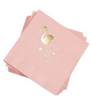 Flamingo Napkins Blush Gold 25 Ct Color PrintPaper