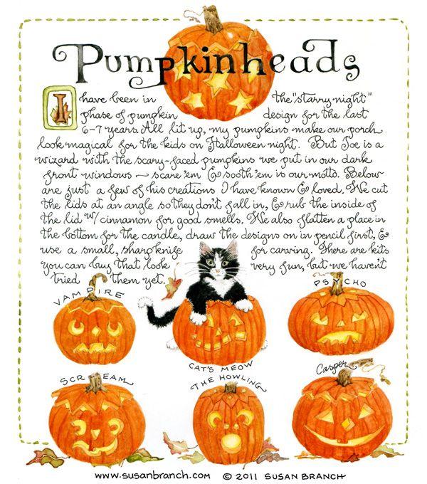 Pumpkin Heads from Susan Branch