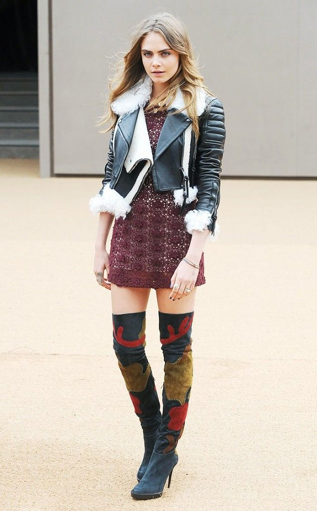 A Celebrity Guide to Wearing Thigh-High Boots | Cara delevingne ...