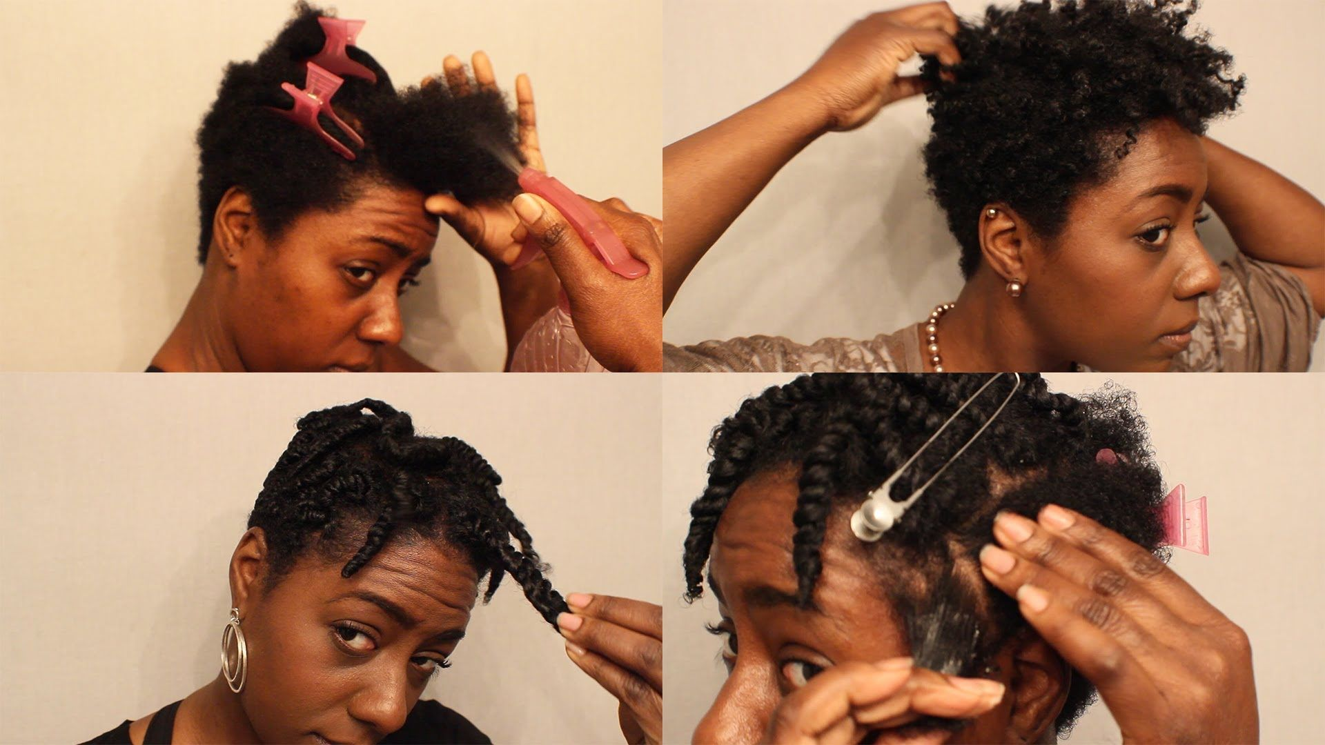spring natural hair styling| tapered twistout