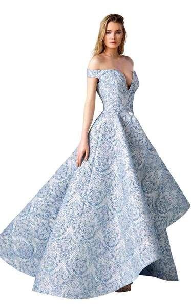 Edward Arsouni Couture 0311 Dress Elegant Evening Gowns