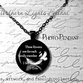 Divergent Necklace Three ravens Tris Quote jewelry ...