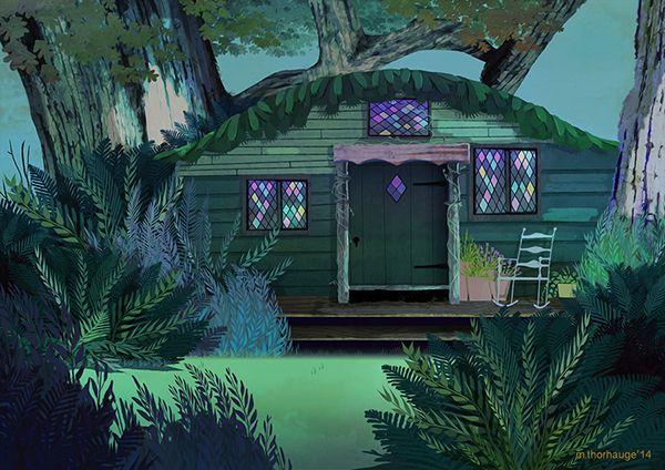 Cottage On Behance Environment Painting Landscape Illustration Environment Concept Art