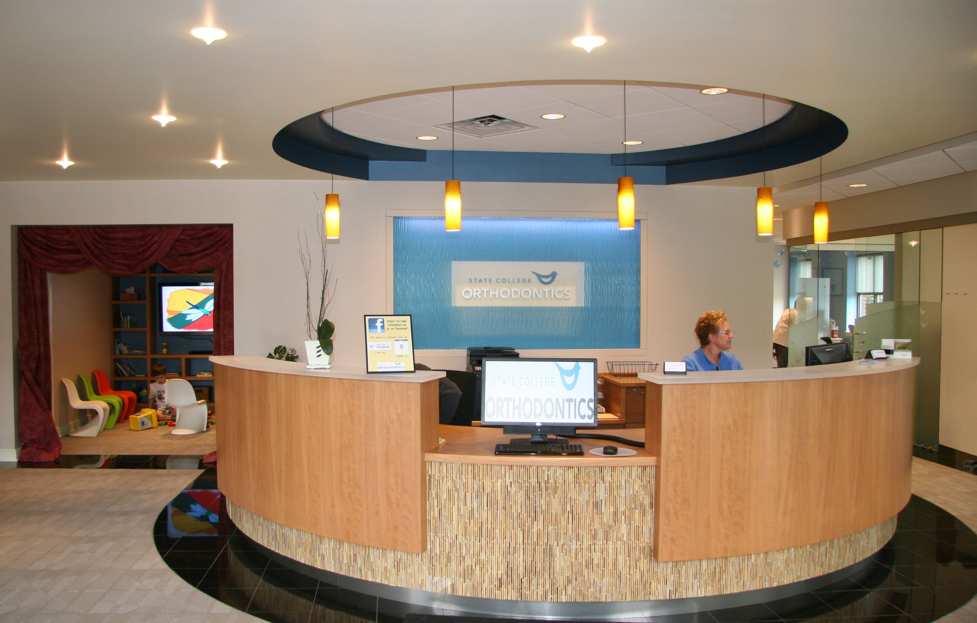 Reception desk for orthodontic office Reception desk