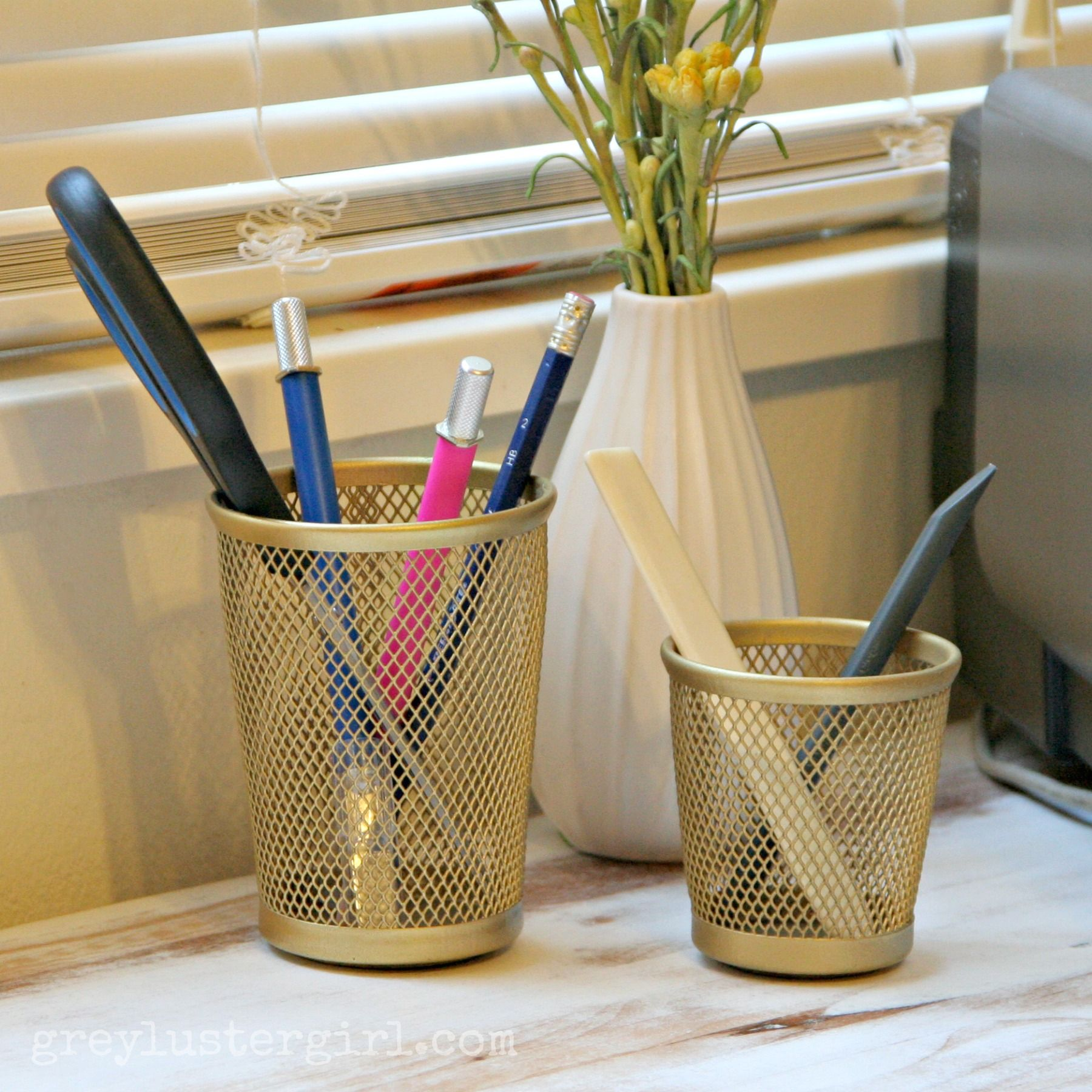 gold pencil oranizing cups gold pencil oranizing
