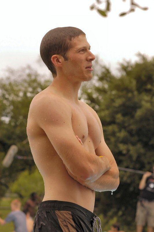 Zach Gilford - wet!