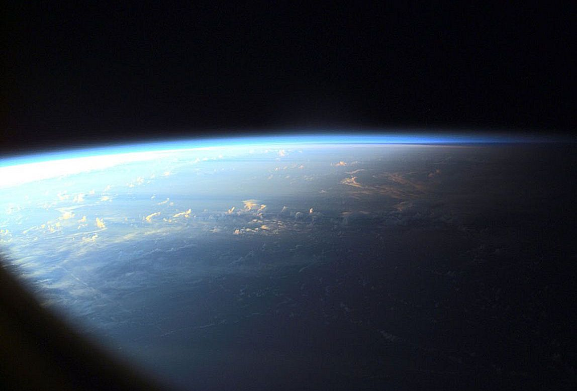 Earth Sunset Earth Airplane View Sunset Outer space earth sunset space planet