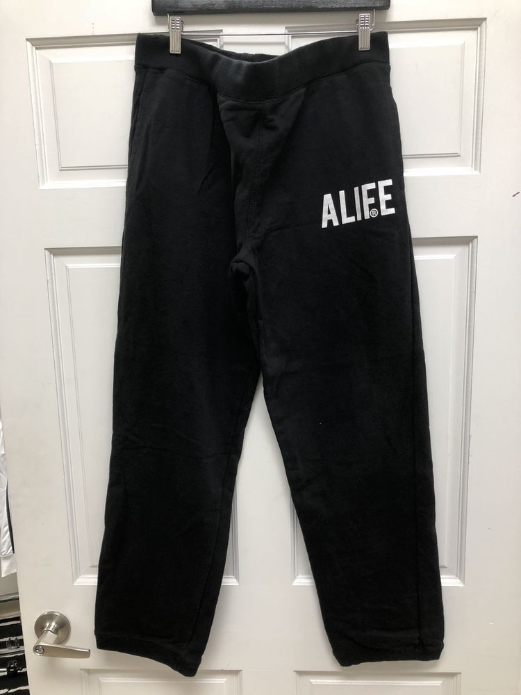 Alife Streetwear Black Sweatpants Size XXL Warm Free Shipping  d91a92599fc2