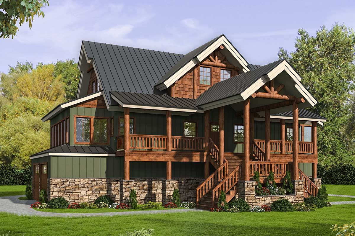 Plan 35583gh 2 Bed Mountain Craftsman Plan With Ample Outdoor Space In 2021 Craftsman House Plan Architectural Design House Plans Craftsman House