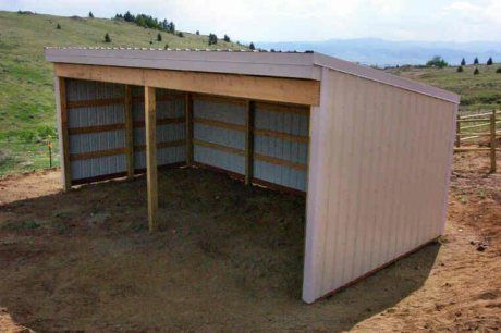 Loafing shed ideas. Wanting to build one of these in my paddock for when the horses are turned out.