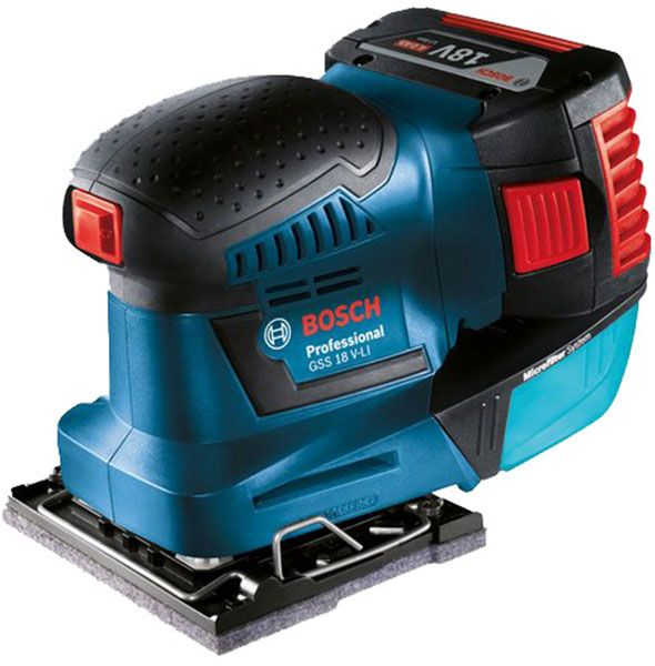 New Bosch 18v Cordless 1 4 Sheet Sander Construction Tools Bosch