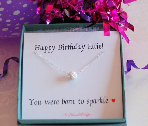 Birthday Gifts For Her Teen Gift Necklace Sister Friend Best