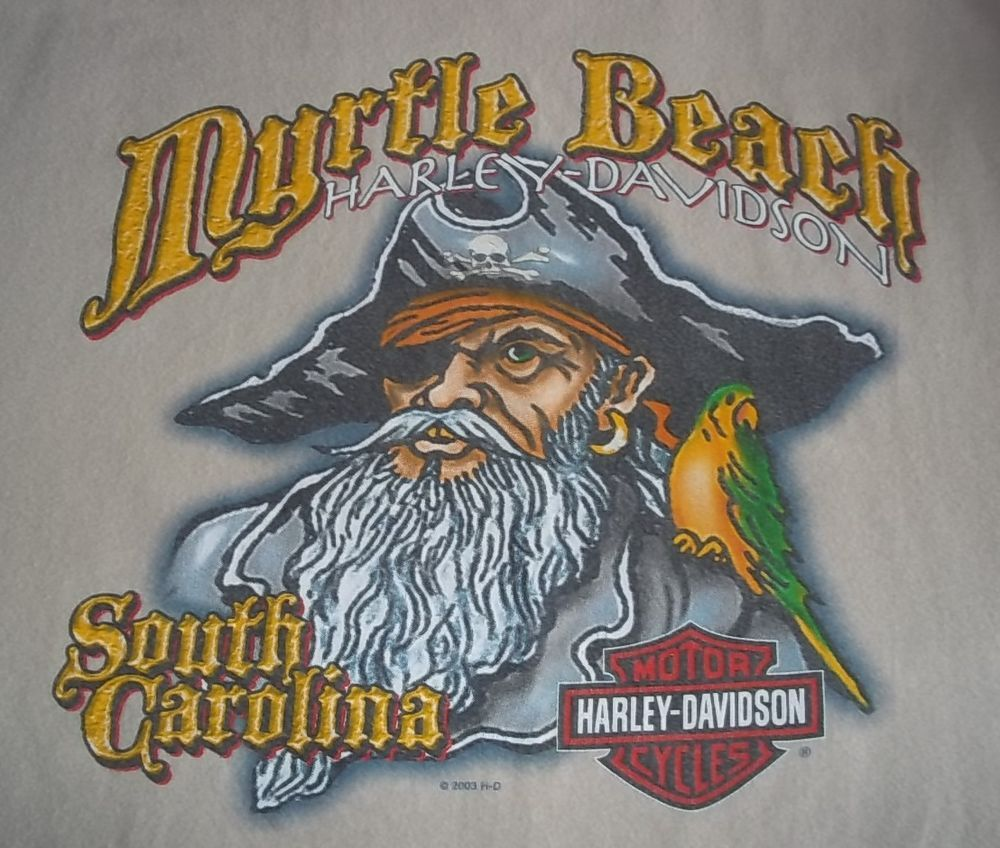 harley davidson t-shirt - extra large - black | myrtle beach south