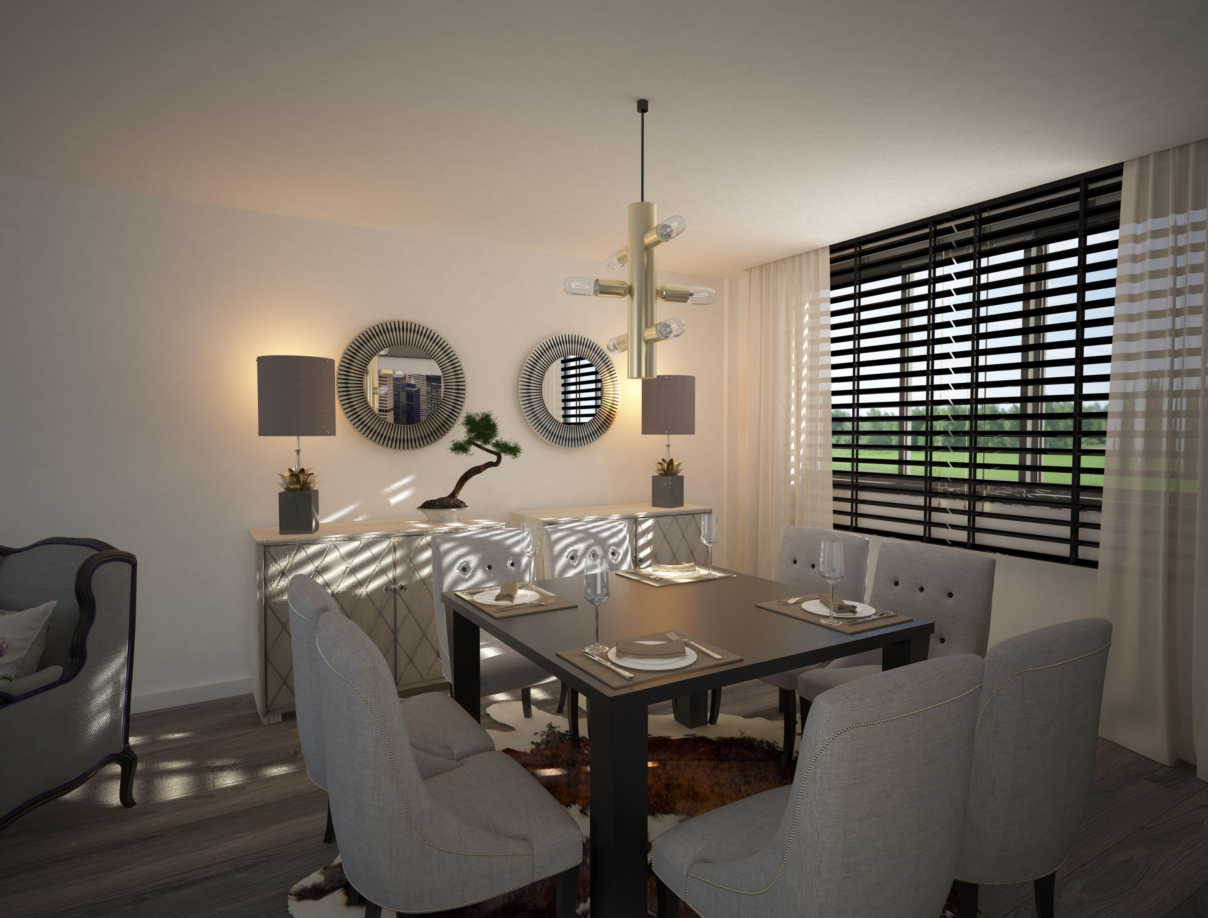 Comedor 8 sillas de fabricante nacional, mesa de 120x120 extensible ...