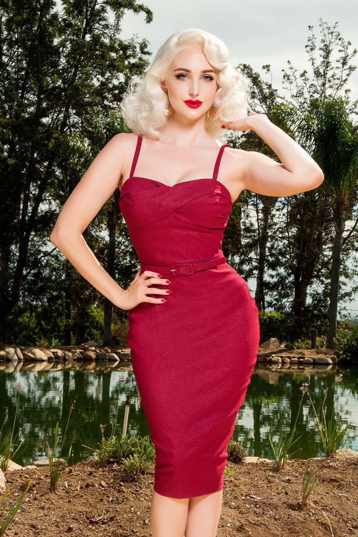 Final Sale - Dixiefried Glamour Girl Dress in Burgundy | Rockabilly ...