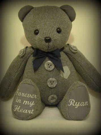 Remembrance Bear Memory Bears Couture Travaux Manuels