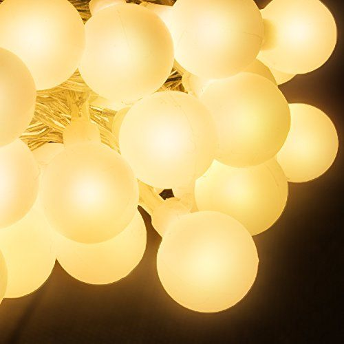 100 led globe fairy lights decorative globe bulb string lights for indoor outdoor accent lighting illuminates a beautiful soft glow or 8 eye catching light