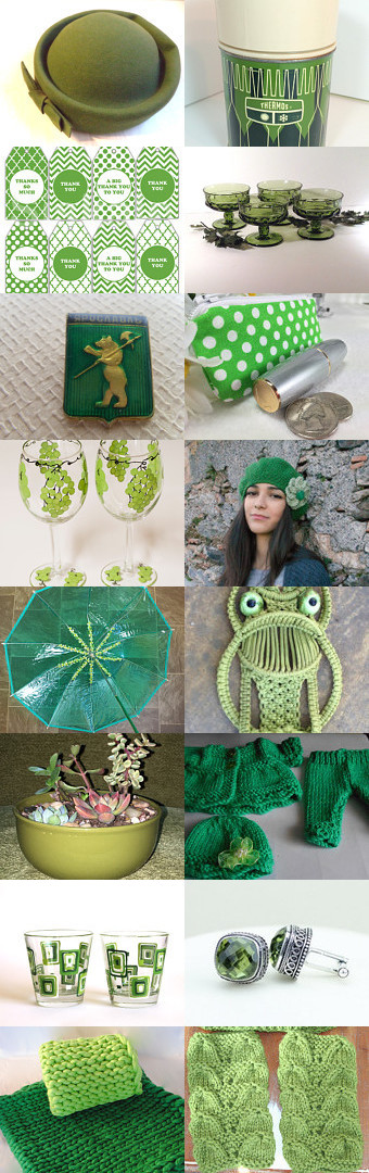 St. Patrick's Day Green. by livingavntglife on Etsy--Pinned+with+TreasuryPin.com