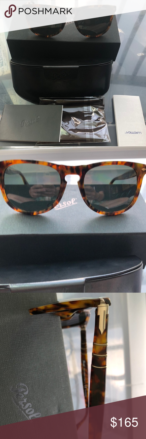 0e01e19952c8a Persol Polarized Sunglasses Handmade in Italy polarized Persol Sunglasses-  brand new