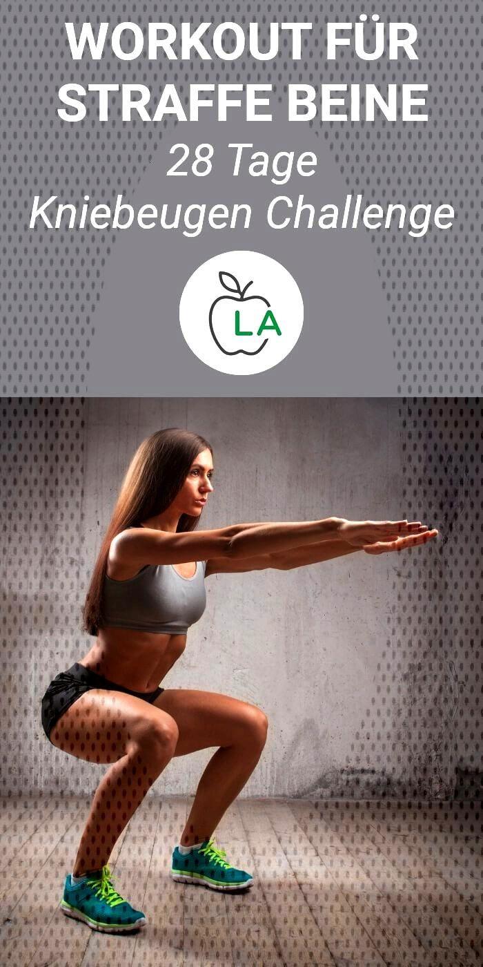 28 Tage Kniebeugen Challenge - Straffe Beine durch Squats - fitness trainingsplan -