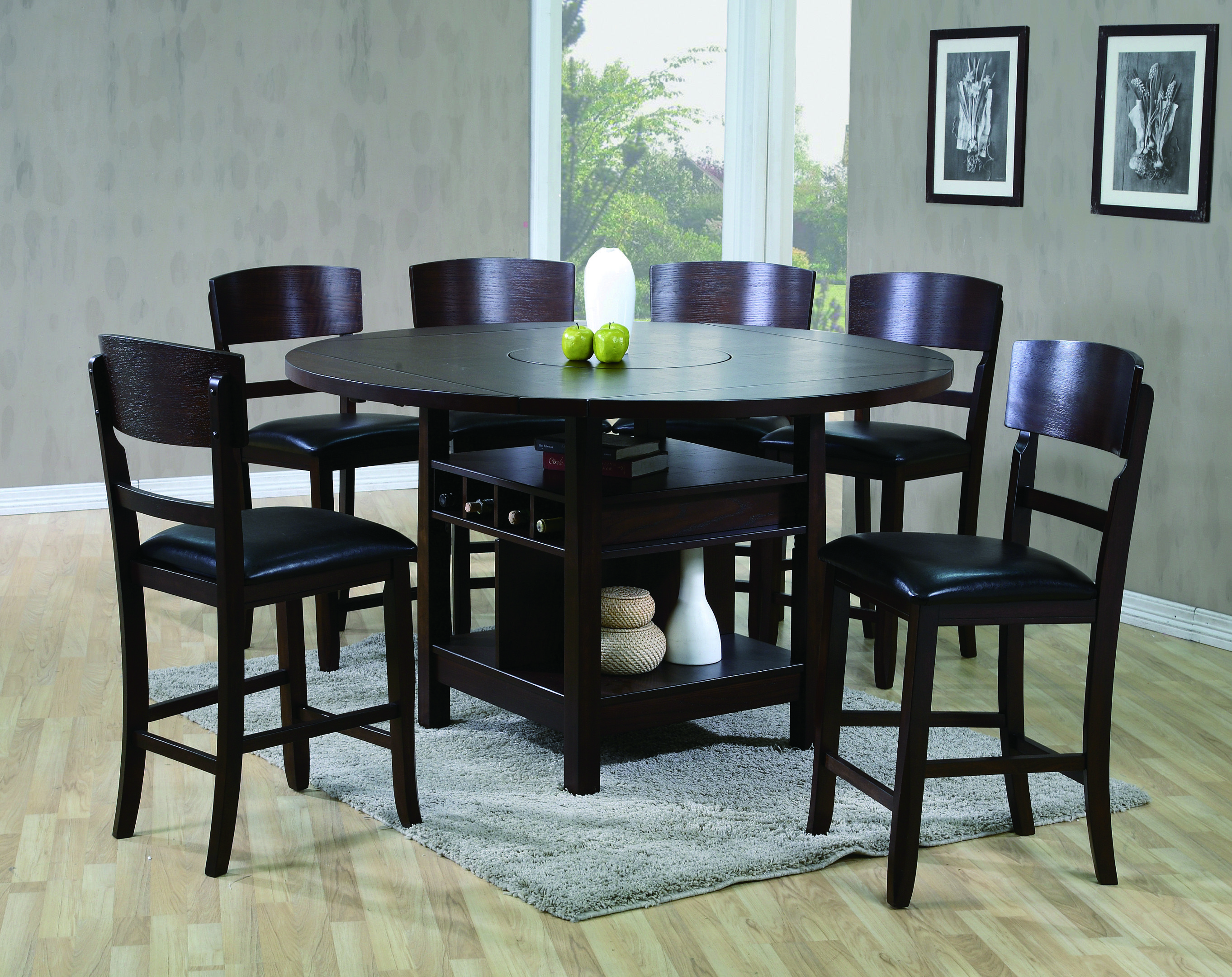 Counter Height Table And Chair Round Dining Table Sets Dining Room Sets Espresso Dining Tables