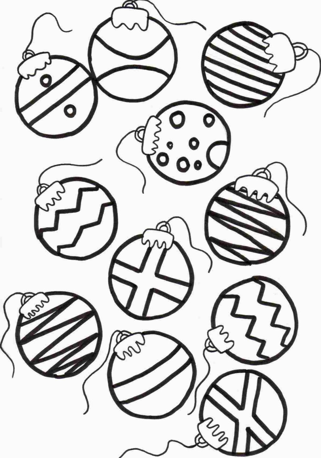 Christmas ornament coloring page coloring pages pinterest