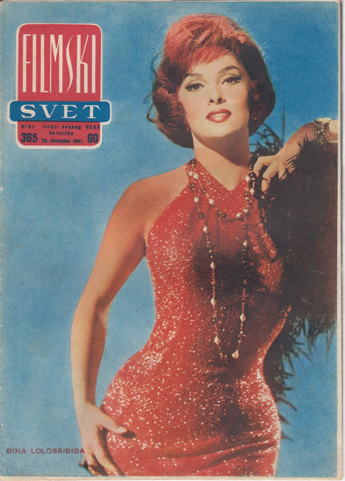 Gina Lollobrigida Gregory Peck Filmski Svet Movie Magazine Yugoslavia | eBay