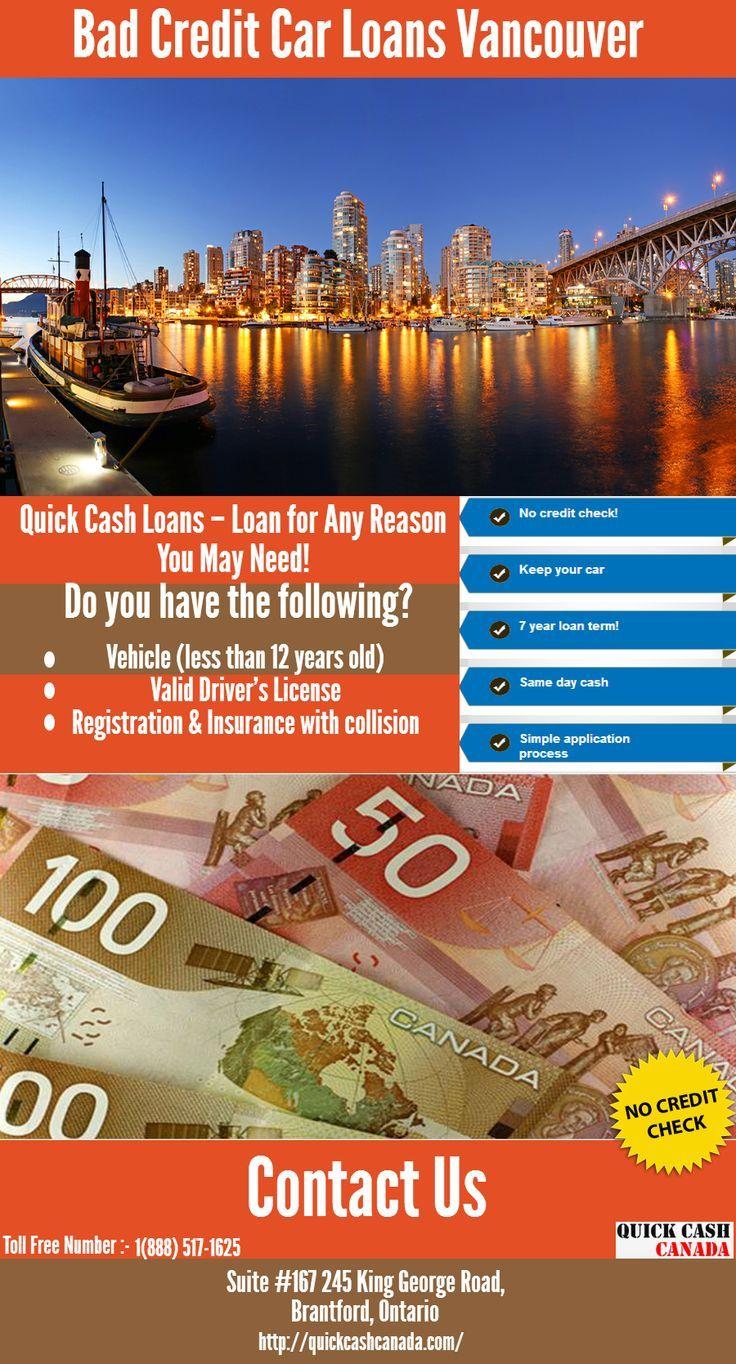 Bad credit no problem Quick Cash Canada offering you Car