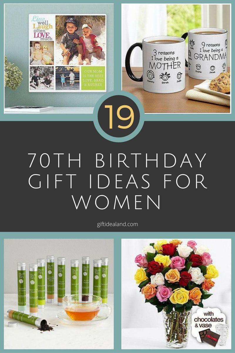 19 Best 70th Birthday Gifts For Women Her Mum Sister Aunt Giftideas Giftforher Ideas Love Giftsforher